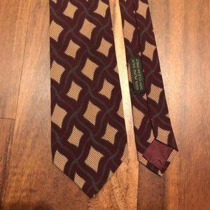 Giorgio Armani Brown and Tan Patterned Tie